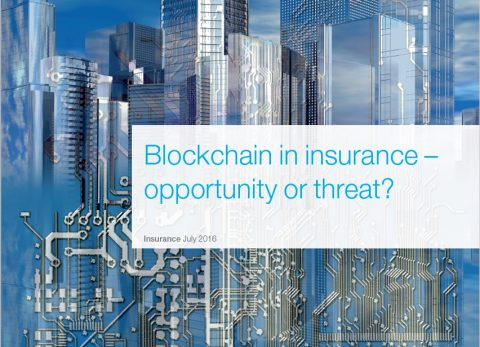 """Blockchain in insurance – opportunity or threat?"", McKinsey&Company"