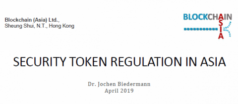 Security Token Regulation in Asia